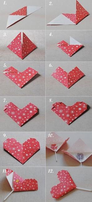 corazón-origami