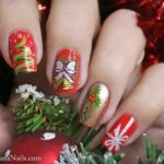 45 Imágenes de creativos y originales diseños de uñas con motivos navideños
