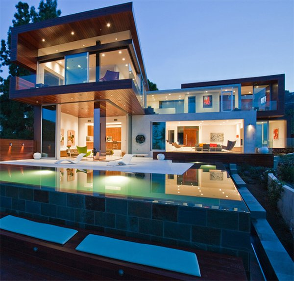 Im genes bonitas de fachadas de casas modernas for Imagenes de albercas modernas
