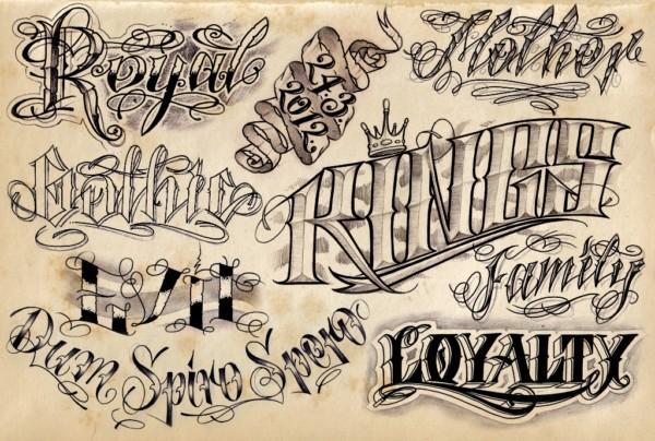 Loyalty Tatuajes T Tatuajes Tipografa Y Letras