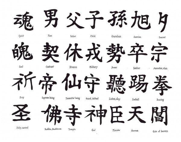 diseños-de-tatuajes-chinos  D Letter J Template on cut out, printable box,