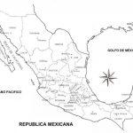Mapas de México para colorear, descargar e imprimir